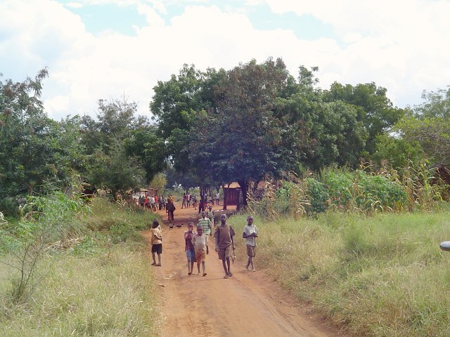 Children from a village nearby