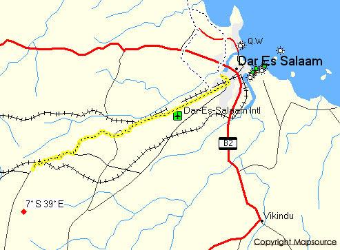 MapSource screenshot showing track.