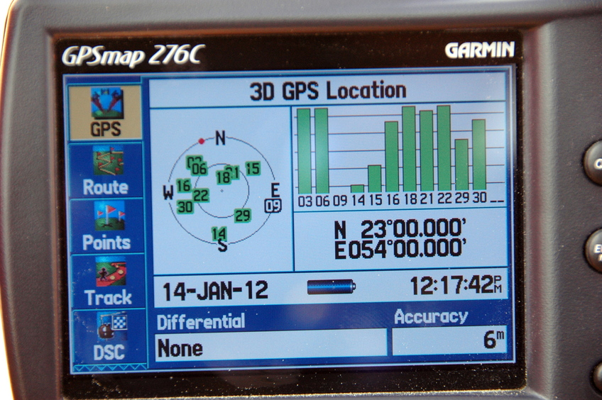 23N 58 E - GPS readings
