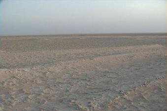 #1: 24N 54E, View to the South. We see very clearly the waves of the sabkha.