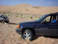 #6: Noel towing out Ahmet's car after it got stuck in the sand.