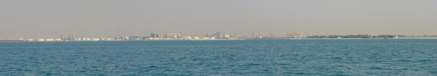 NE view to Jabal `Aliy harbour