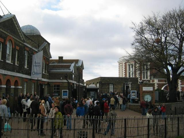 Visitors at Greenwich Royal Observatory