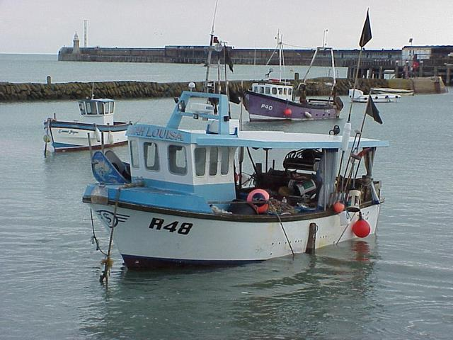 The commercial fishing boat Sarah Louisa after sailing on it to the confluence point.