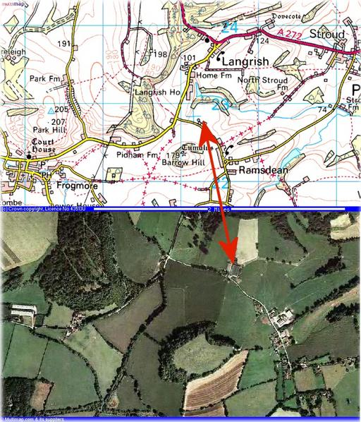 Map and aerial photo