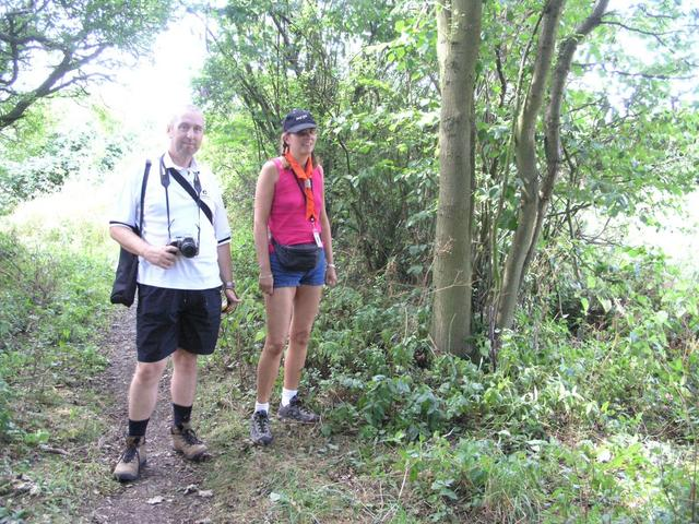Gordon and Tone leaving the bridleway