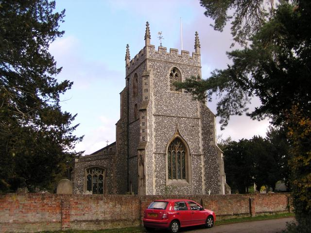 Typical east of England church in Barkway