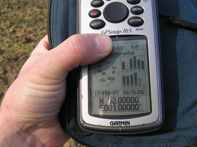 GPS receiver at the confluence of 52 North 1 East.