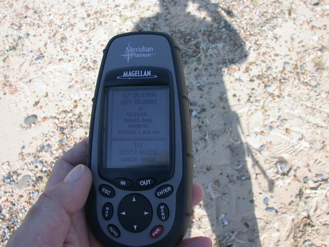GPS receiver at the location of the first photo