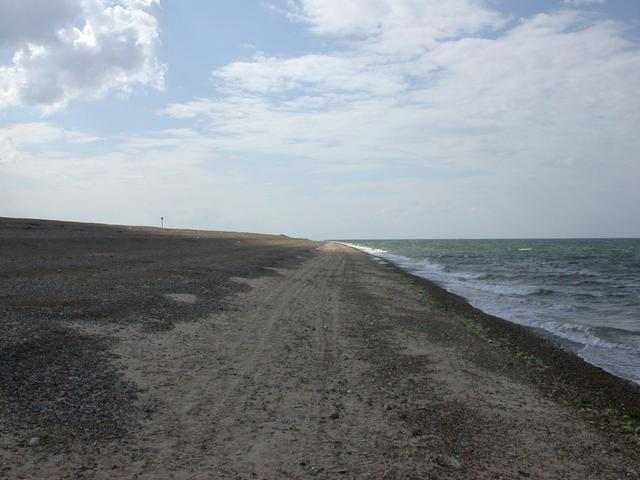 West along the sand bar