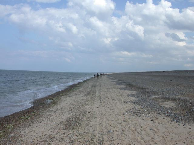 East along the sand bar