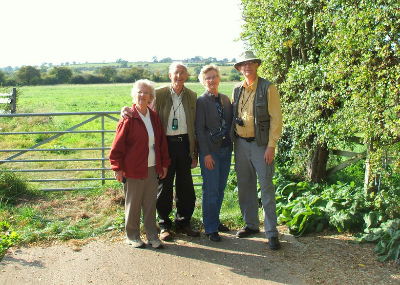 Joyce, Gerald, Carolyn and Alan Fox after a successful confluence visit.