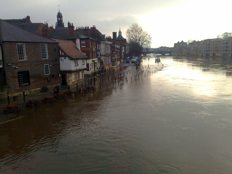 Flooding in York due to the heavy rain