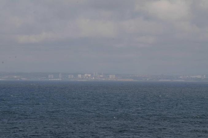 view to the west-northwest, South Shields and Tynemouth (picture taken with 300 mm telephoto lens)