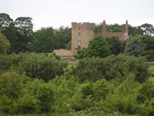 Aydon Castle seen from the confluence