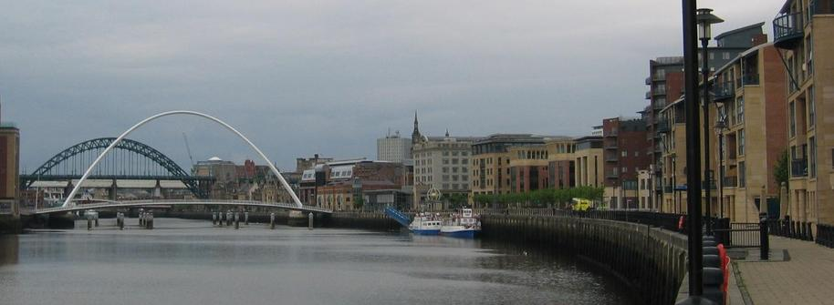 Millenium Bridge in Newcastle