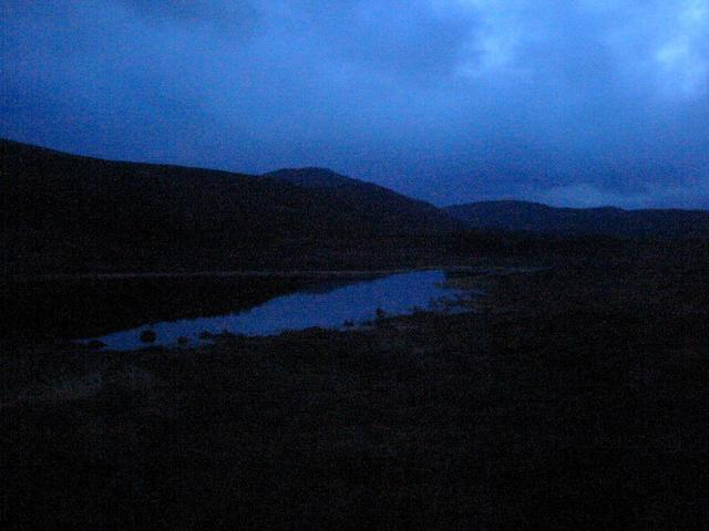 Almost dark.  Thank goodness for headtorches!