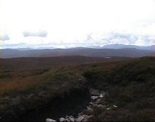 #1: Looking south. Glimpse of Loch a' Chroisg (?)