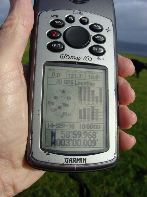 GPS reading, unfortunately with more zeroes in the time than in the latitude/longitude.