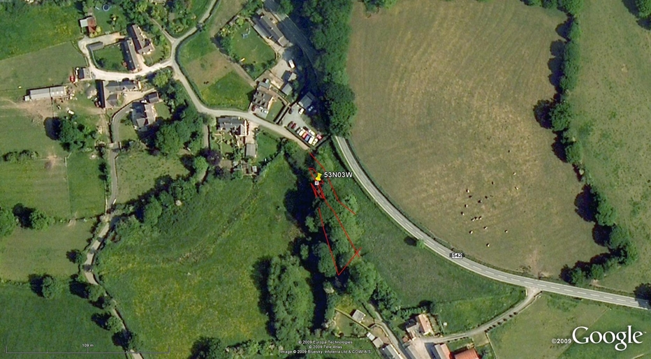 Our track on the satellite image (© Google Earth 2009)