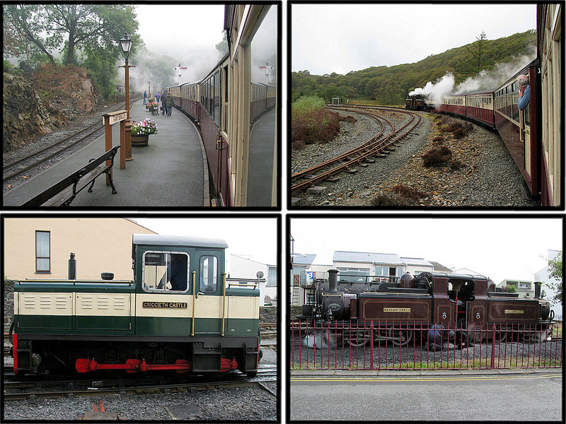 Scenes from our ride on the Rheilfford Ffestiniog narrow guage railway.