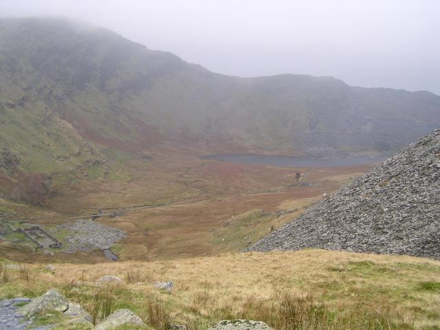 Descending into Cwmorthin