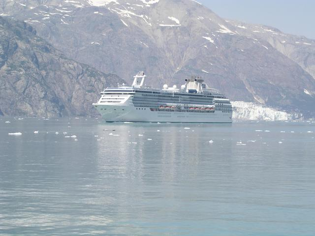 The majority of visitors to Glacier Bay never set foot on land including this boatload at Margerie Glacier