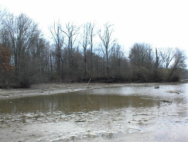 "The ""swimming hole"" to the south"