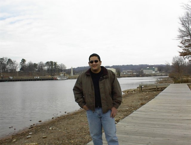 Here is Orlando, with a river boat in the background, several hundred feet north of the confluence point