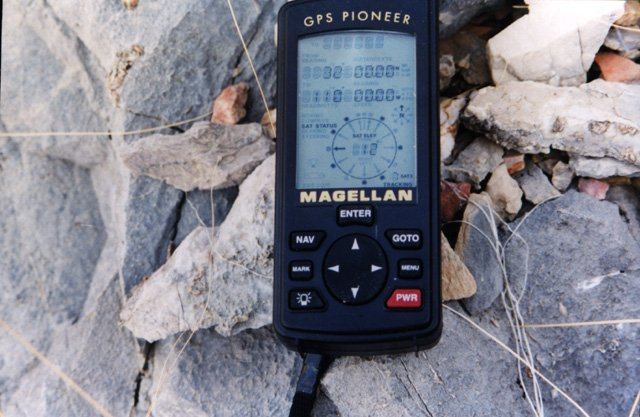 The GPS among the rocks.