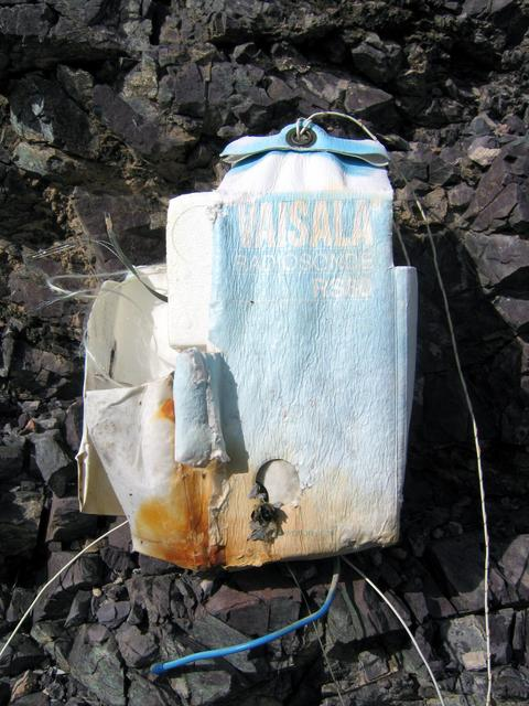 Vaisala RS80 Radiosonde found on the hike back