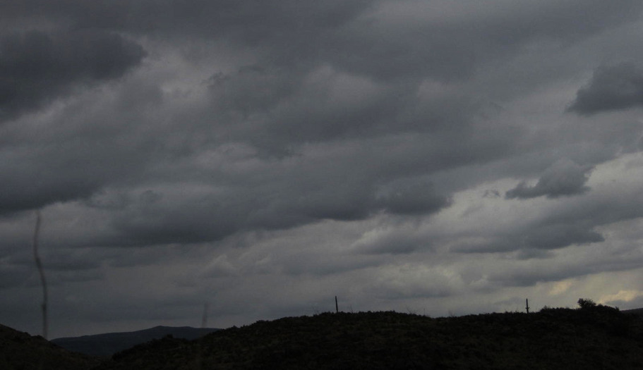 Unusual day in southern Arizona -- dark, cloudy skies