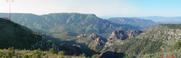 #2: Panoramic from the canyon ridge from the NW.