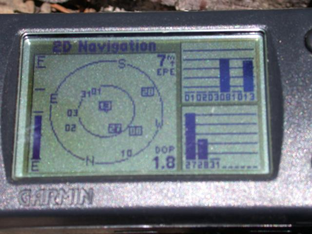GPS Error screen