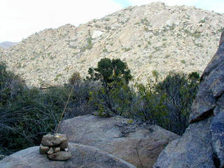 #1: Cairn and apple core marks the spot