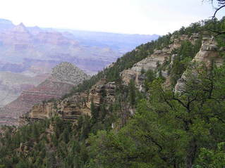 #1: Grand Canyon view to the northeast while standing on 112 West, 1200 meters from the confluence.