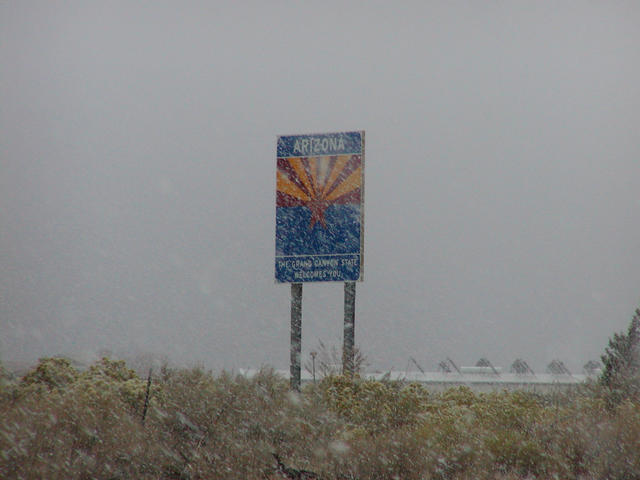 A shot of the sign at the Utah/Arizona border.