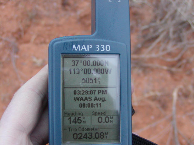 The obligatory shot of my GPS.