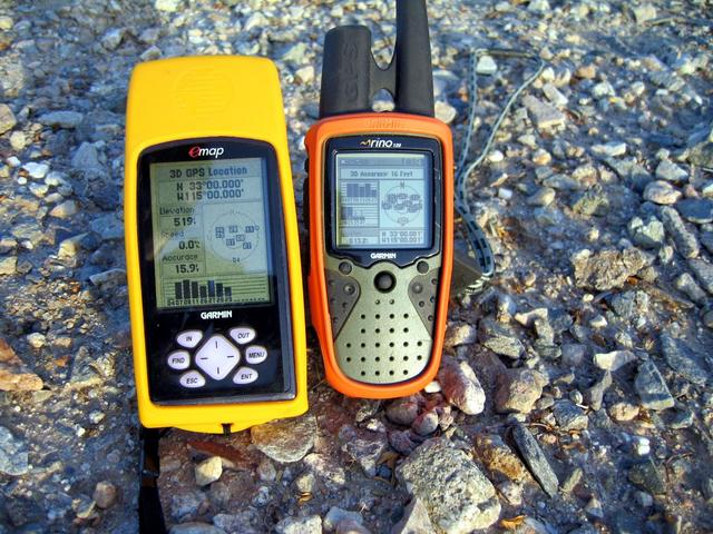 GPS readings at confluence