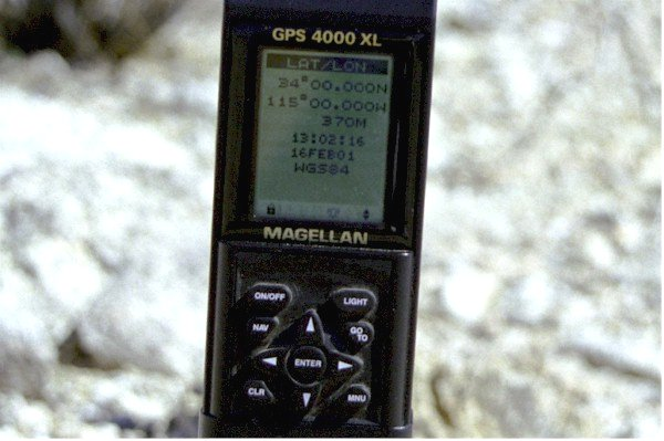 Close-up of GPS