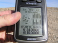 #3: GPS reading at the confluence under wide open skies and plenty of GPS satellites.