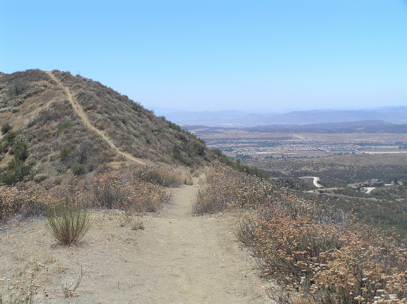 View from the top of the ridge to the east of the confluence, looking south-southwest.