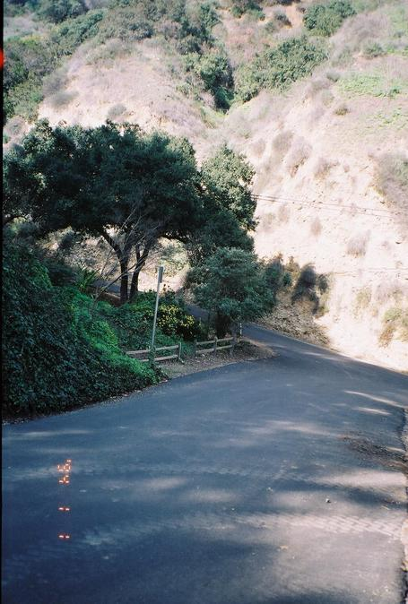 Looking down towards the junction of Oak Canyon and Athel Drives