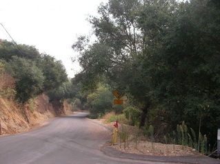 #1: Looking eastward. This is East Oak Cyn Drive.