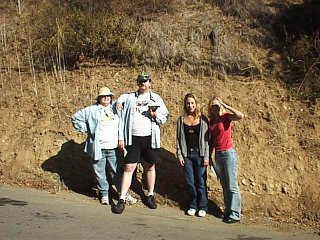 #1: The group poses near the confluence