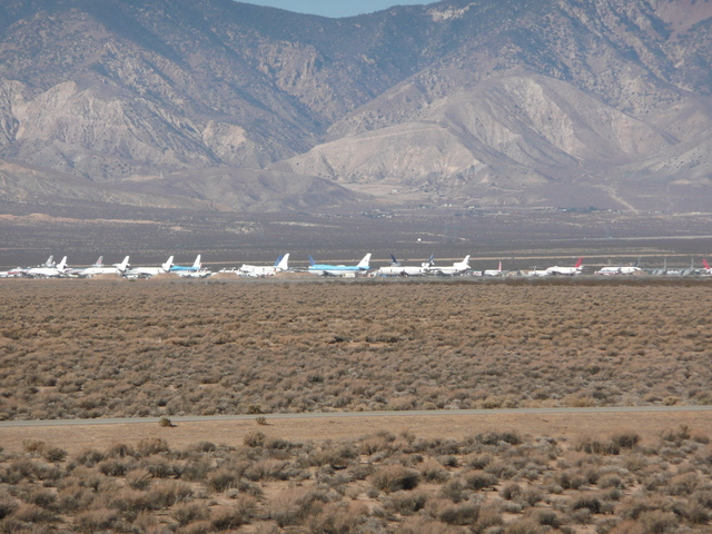 stored aircraft at Mojave airport