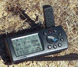 #1: Ross's GPS receiver's display at the confluence point