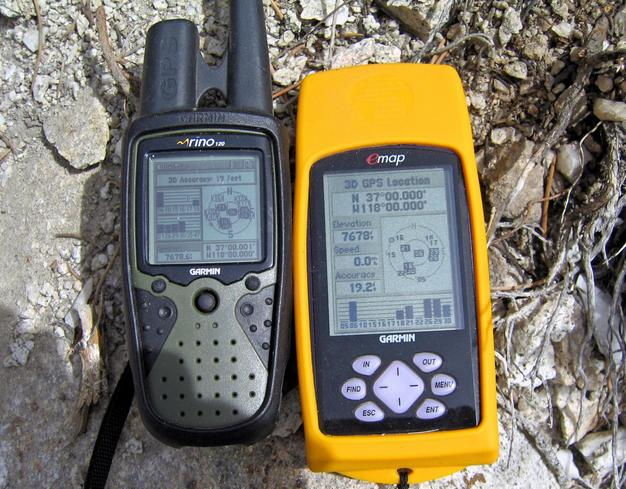 GPS readings at the confluence