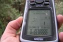#6: GPS reading at the confluence point.