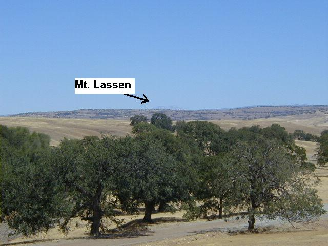 Mount Lassen to northeast